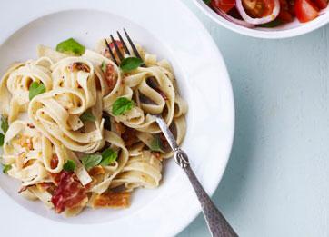 pasta+med+panchetta