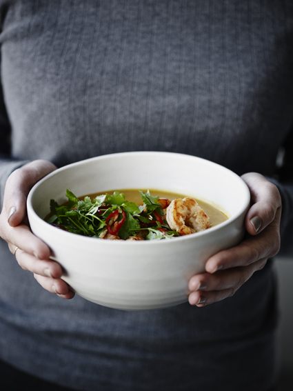 Graeskarsuppe med rejer