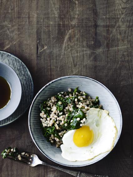 spinat og boghvede