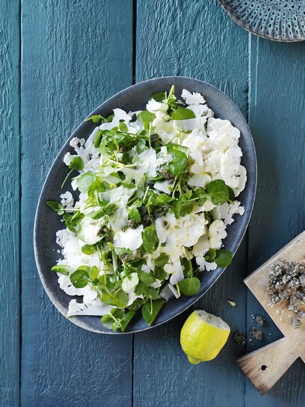 blomkalsalat med kapers