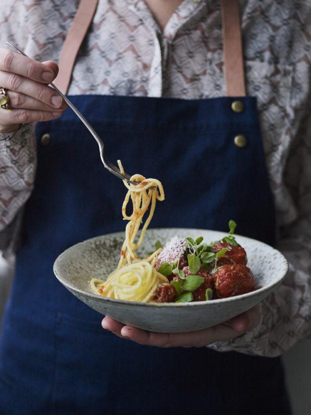 Spaghetti og koedboller